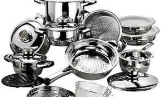 Чистка посуду з нержавіючої сталі