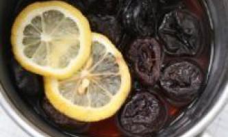 Компоти з чорносливу - рецепти з яблук, чорносливу, кураги, родзинок, лимона, м`яти