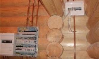 Монтаж електропроводки - дерев`яний будинок