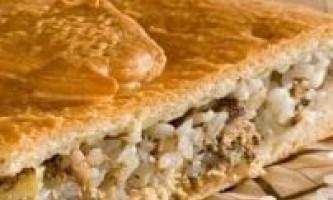 Рибний пиріг з сайри, рецепт