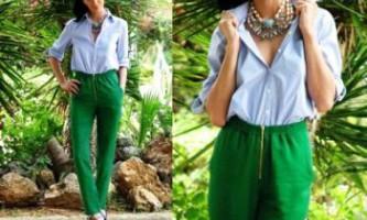 З чим носити зелені штани?